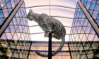 Andy Scott's sculpture of a Leopard. Picture by Darrell Benns