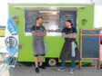 Nick Coetzer and Patrick Gillease at the Roots Catering van