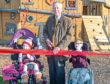 Aberdeenshire provost Bill Howatson does the honours at the new play park
