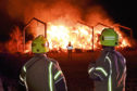 Scottish Fire and Rescue Service at the scene of a fire at Fortree farm steading in Ellon.  Picture by KENNY ELRICK     26/10/2019