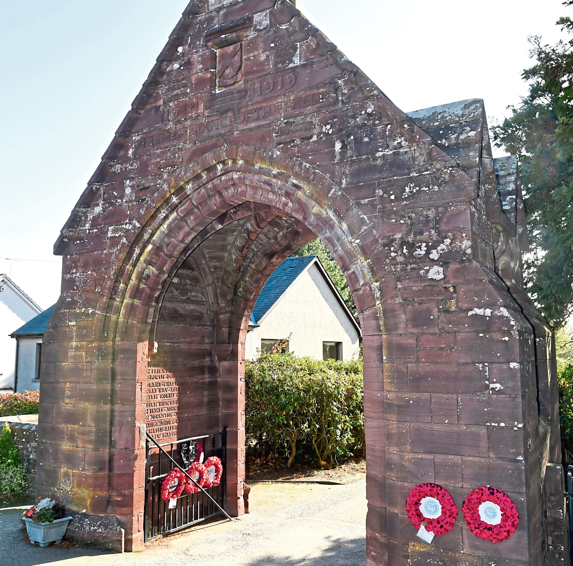 Turriff's existing cemetery entrance