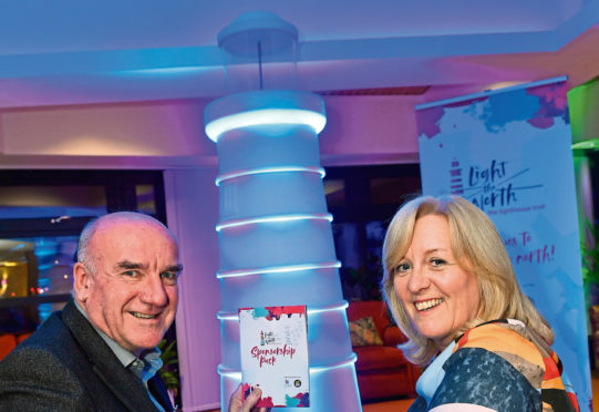 CLAN chairman Hugh Little and the charity's chief executive Colette Backwell.