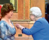 Jennifer Gow recived an MBE from the Queen
