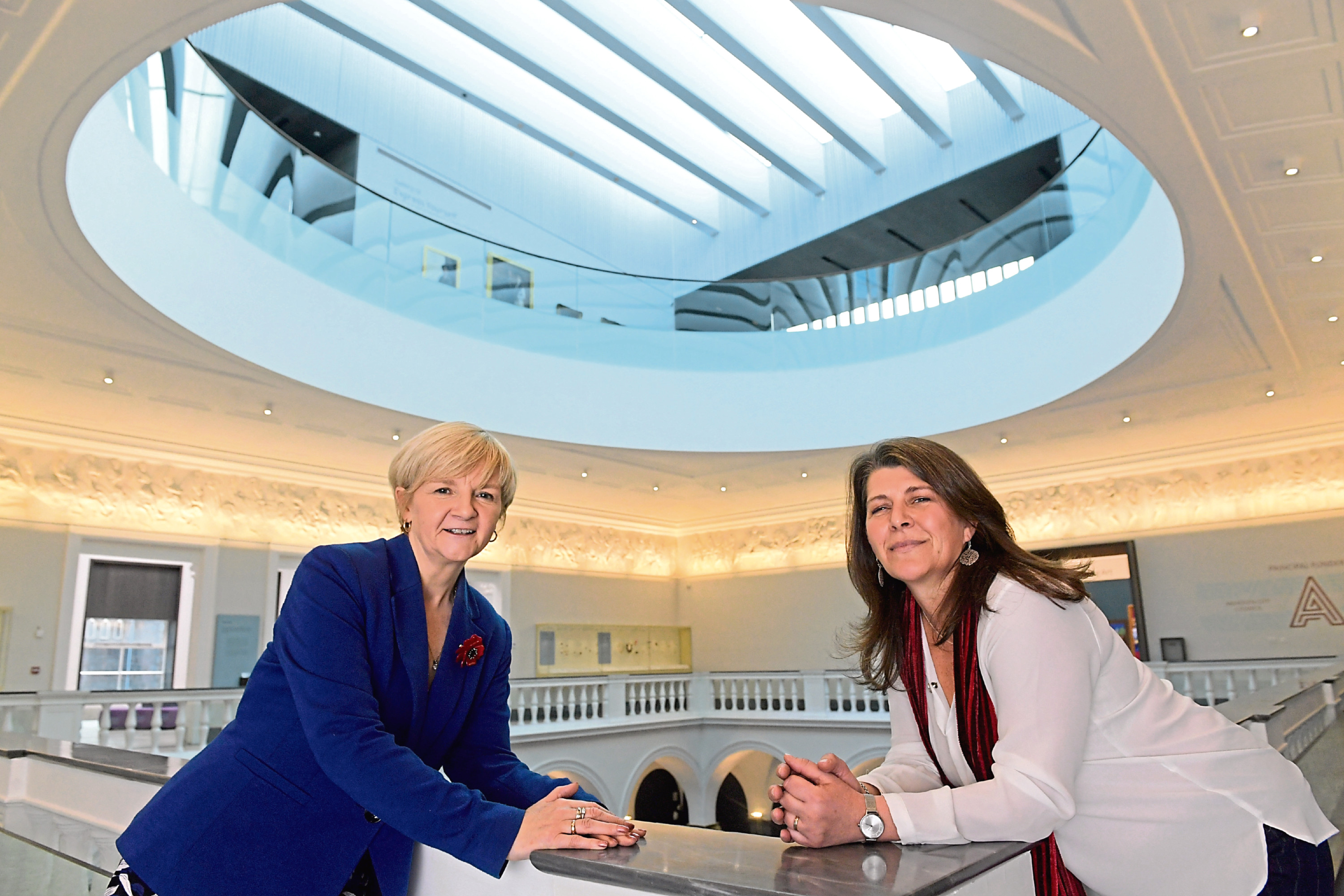Aberdeen City Council Co-Leader Jenny Laing, left, with culture spokeswoman Marie Boulton. Pictures by Kath Flannery