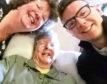 Gillian with her mum Marian Clark and her son Alex Owen