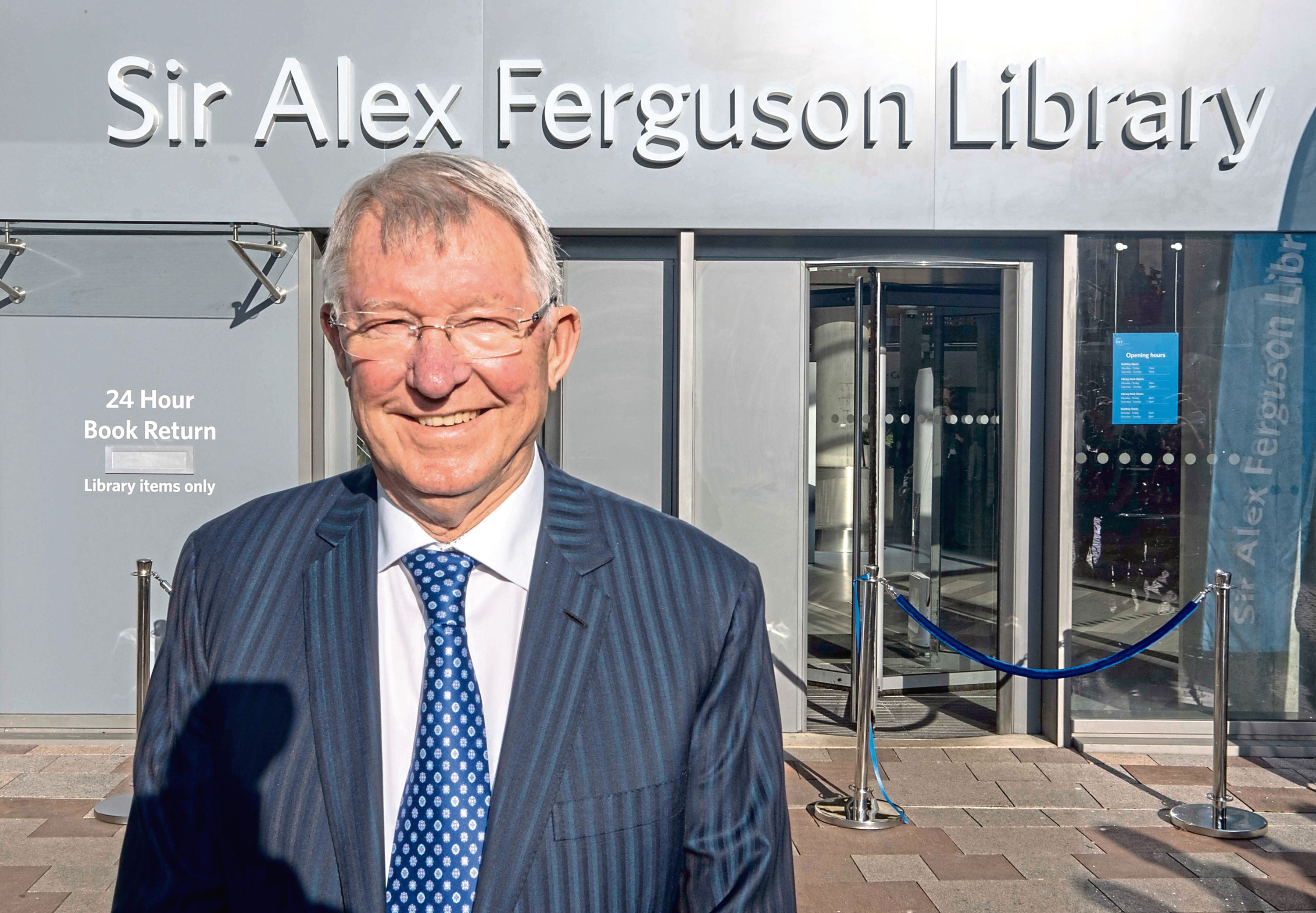 Sir Alex Ferguson at the new library