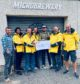 The RNLI crew was handed the cheque at the Brew Toon microbrewery