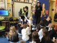 Police Scotland officers visit Skene Primary School last week
