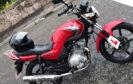 The stolen Yamaha bike
