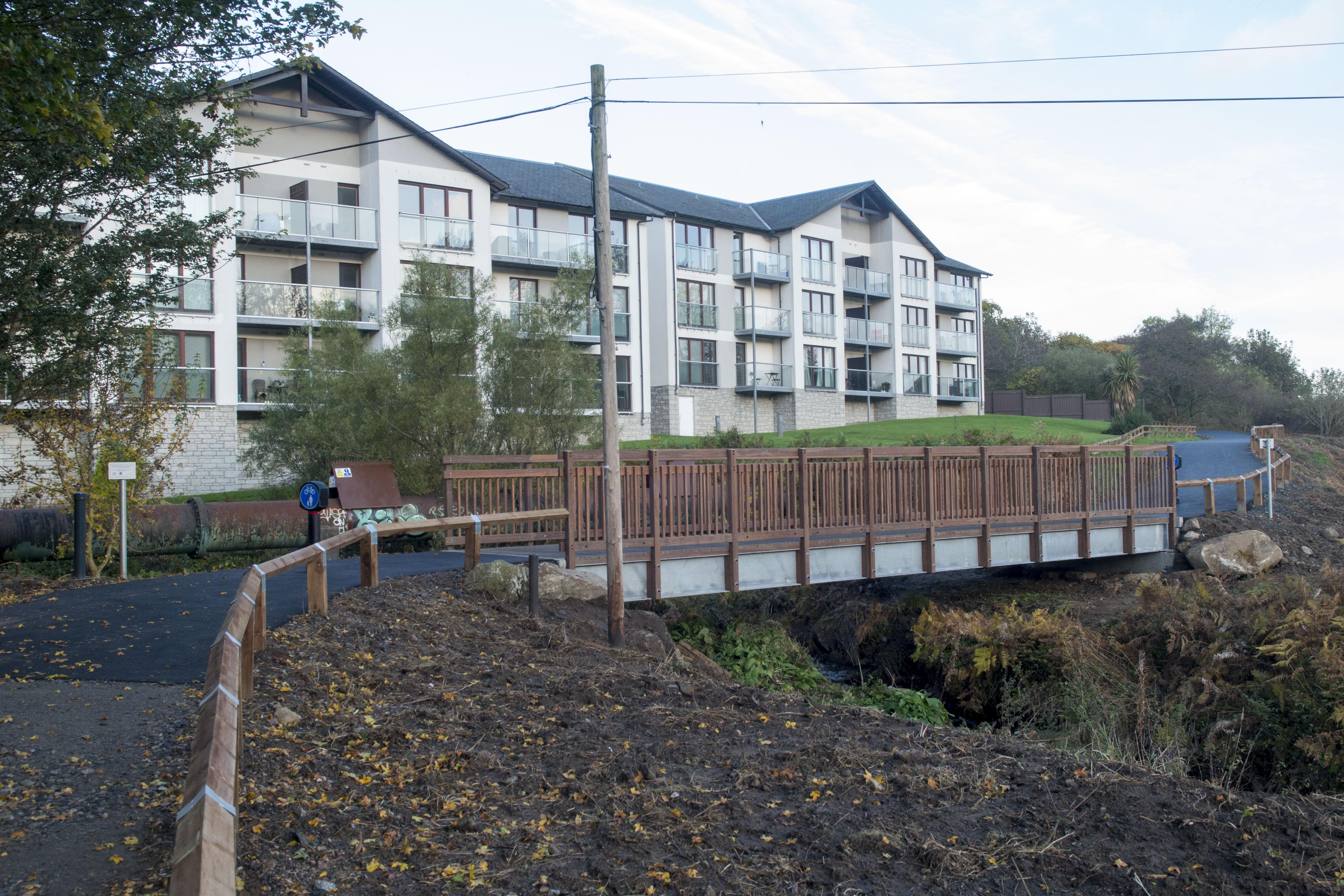The new Farburn Bridge in Dyce
