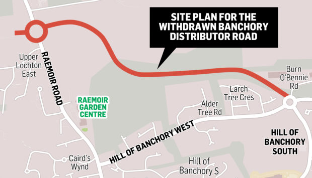 Hundreds of letters of objection were received over the proposed road.