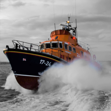 Aberdeen's Severn-class all-weather lifeboat Bon Accord
