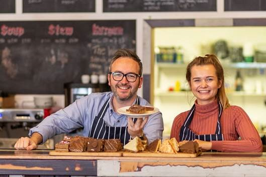 Will Torrent and Martha Collison promoting the Cakes, Bakes & Faith tour'