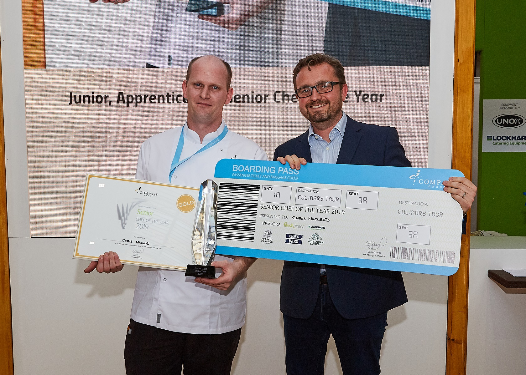 Chris Macleod was crowned winner at the annual Compass Group UK contest