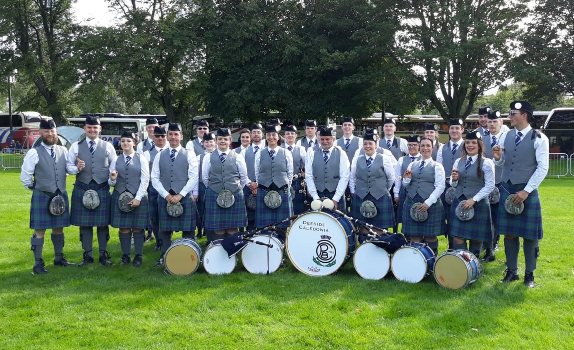 The Deeside Caledonia Pipe Band