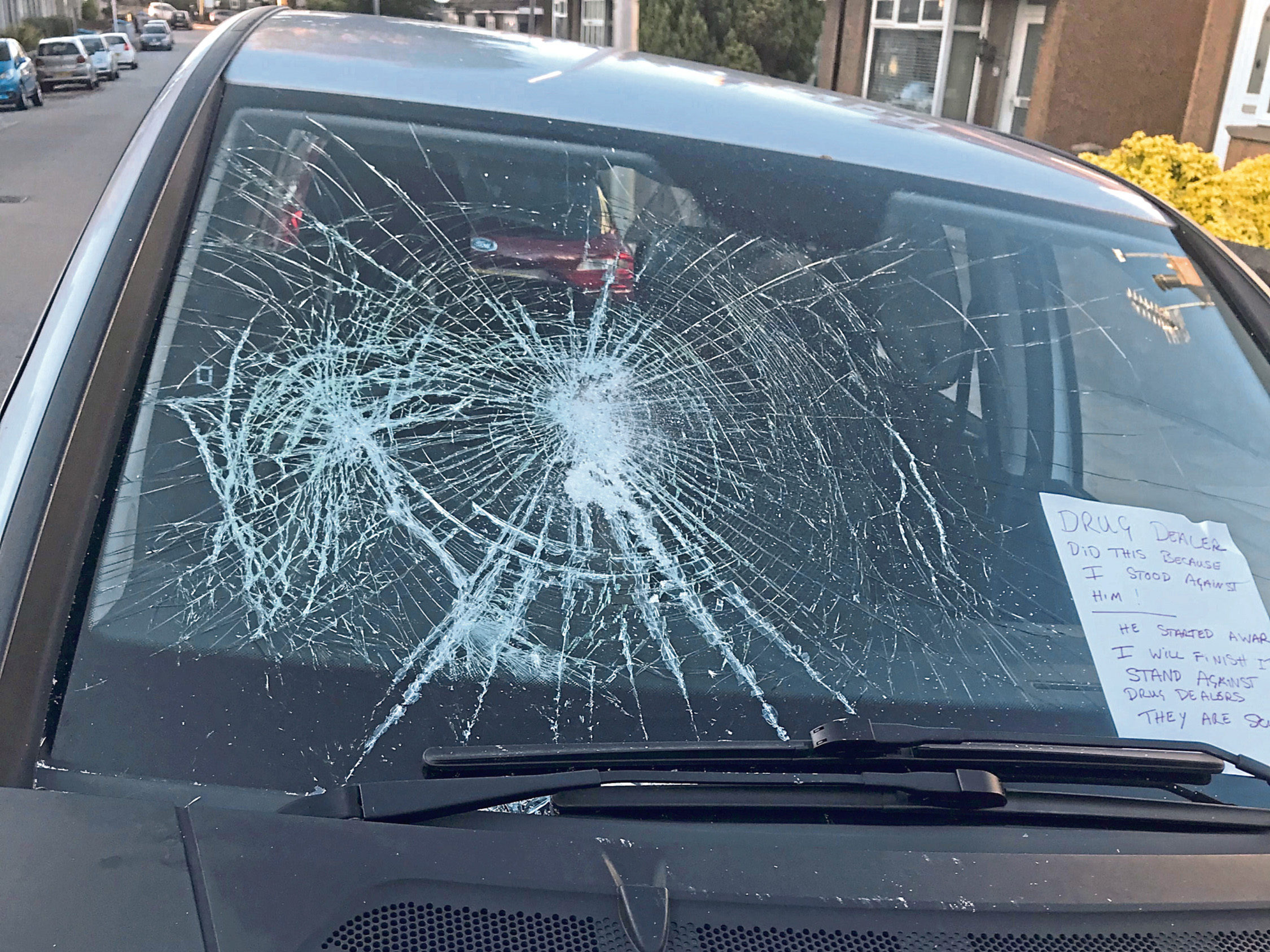 Damage caused to car on Sunnyside Road, Aberdeen