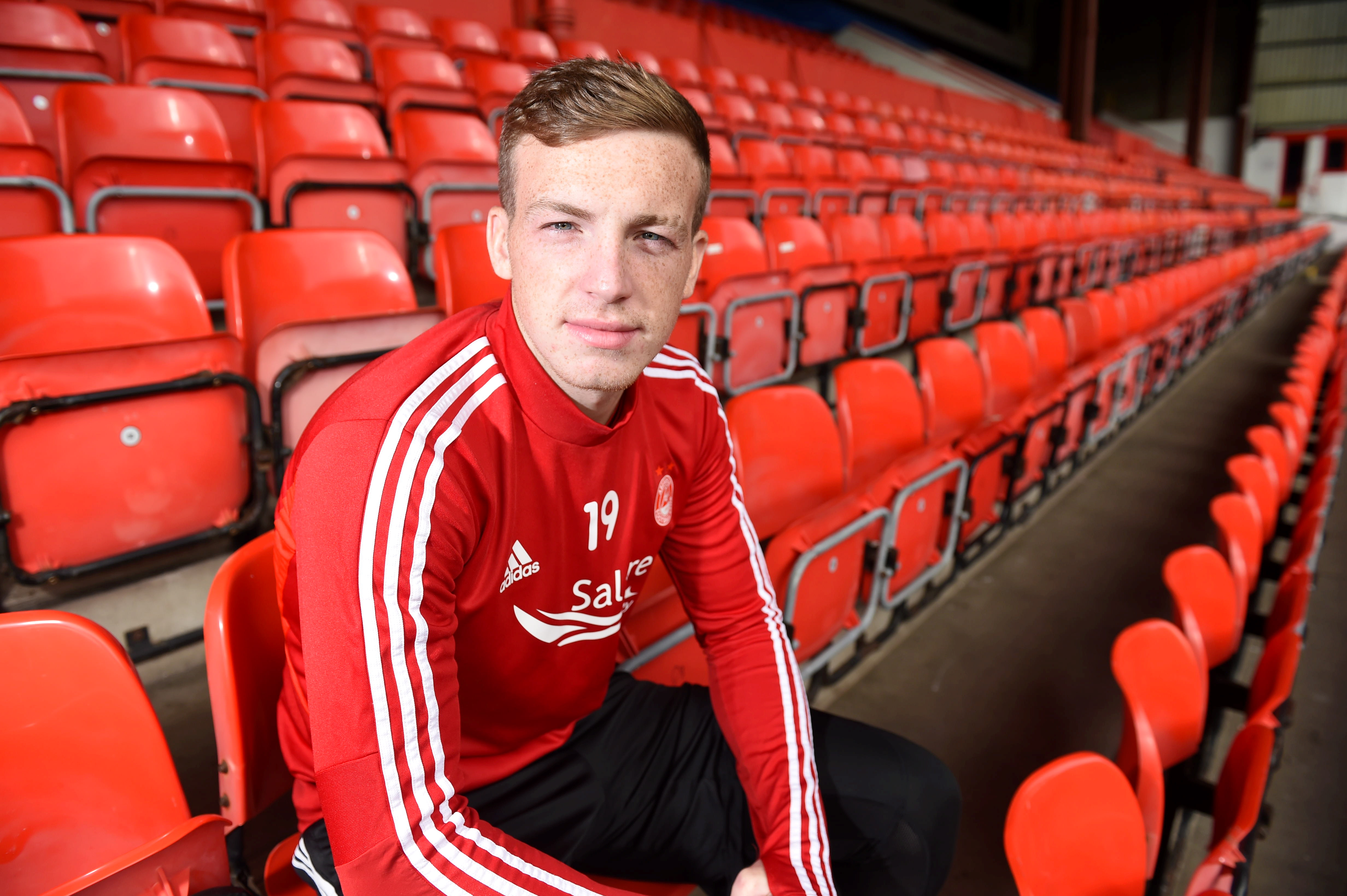 Lewis Ferguson at Pittodrie Picture by Paul Glendell
