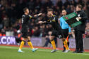 Terry Taylor of Wolverhampton Wanderers replaces Bruno Jordao.