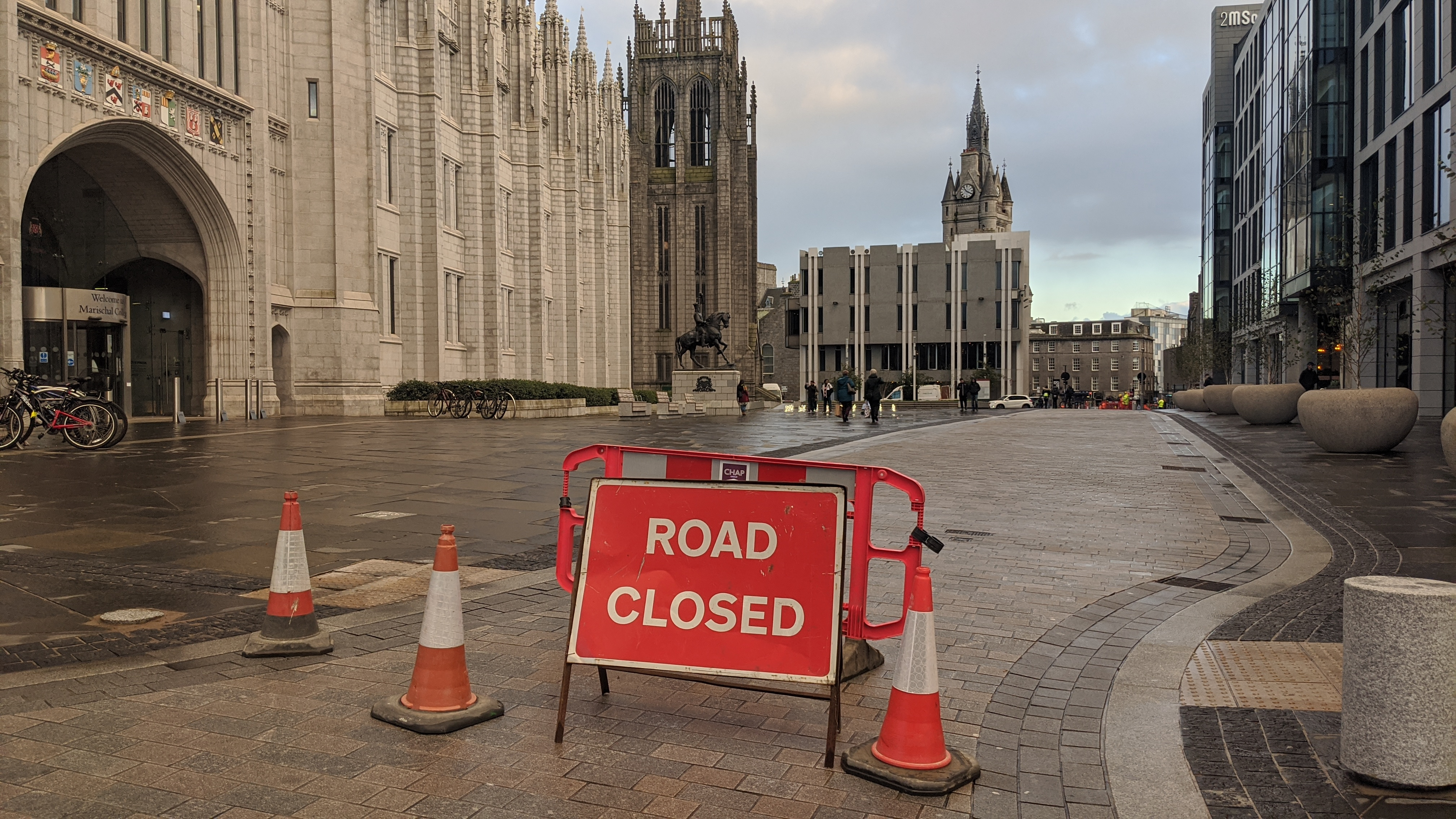 Broad Street is currently closed to buses