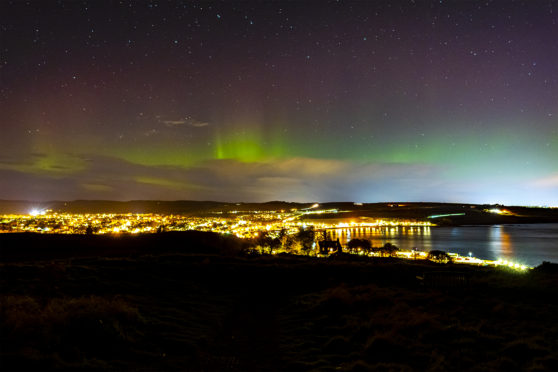 Photographer Mark Coull captured the Northern Lights in Stonehaven last night