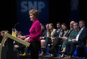 Nicola Sturgeon speaks during the SNP conference in Aberdeen