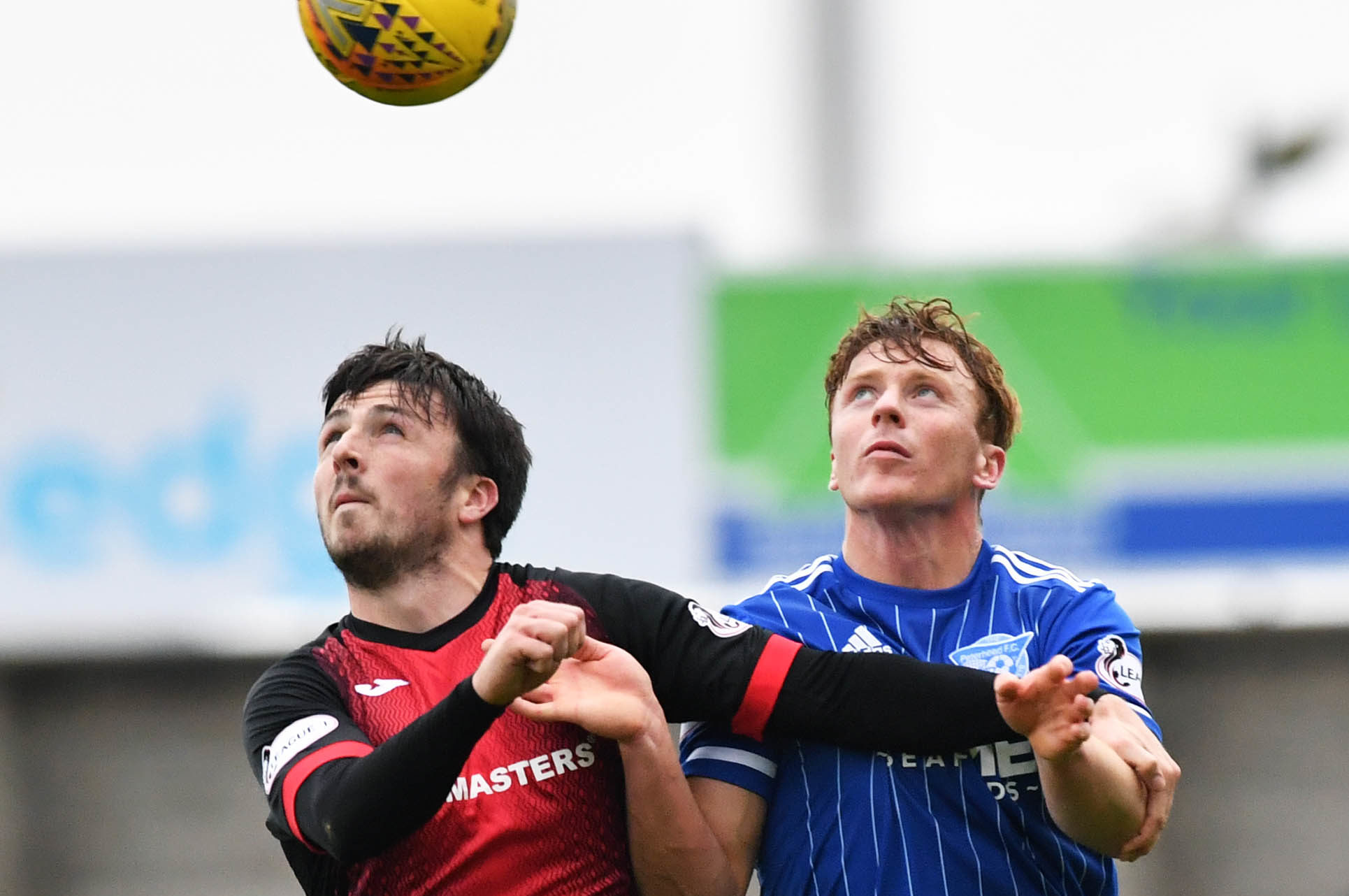Blue Toon defender Scott Hooper, right, is aiming to face Falkirk next weekend
