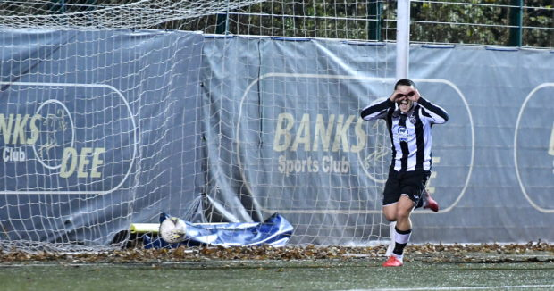 Fraserburgh's Scott Barbour celebrates. Picture by Chris Sumner