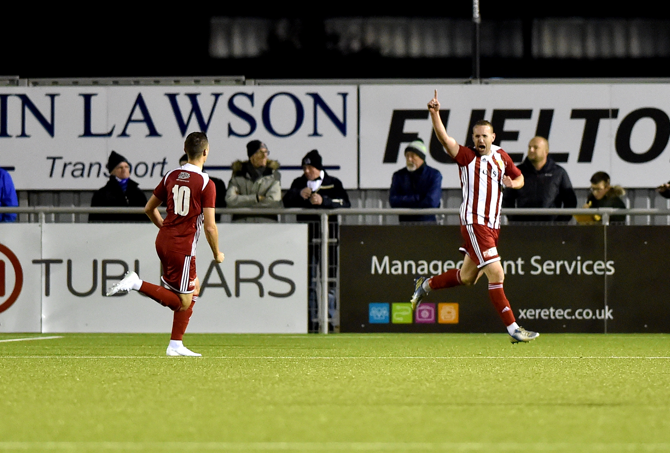 Formartine's Garry Wood celebrates his equaliser