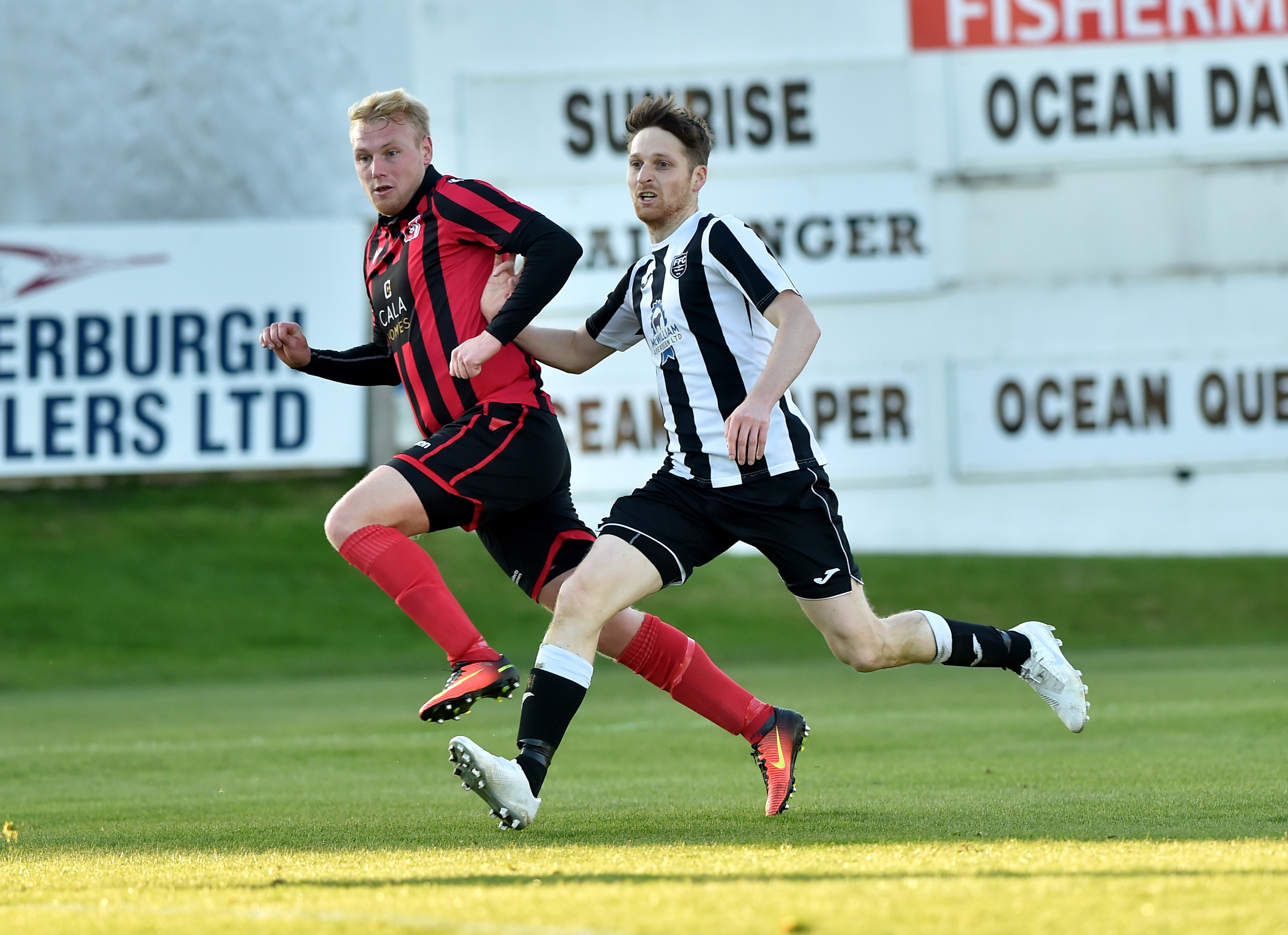 Chris Angus, left, is out. Picture by Scott Baxter