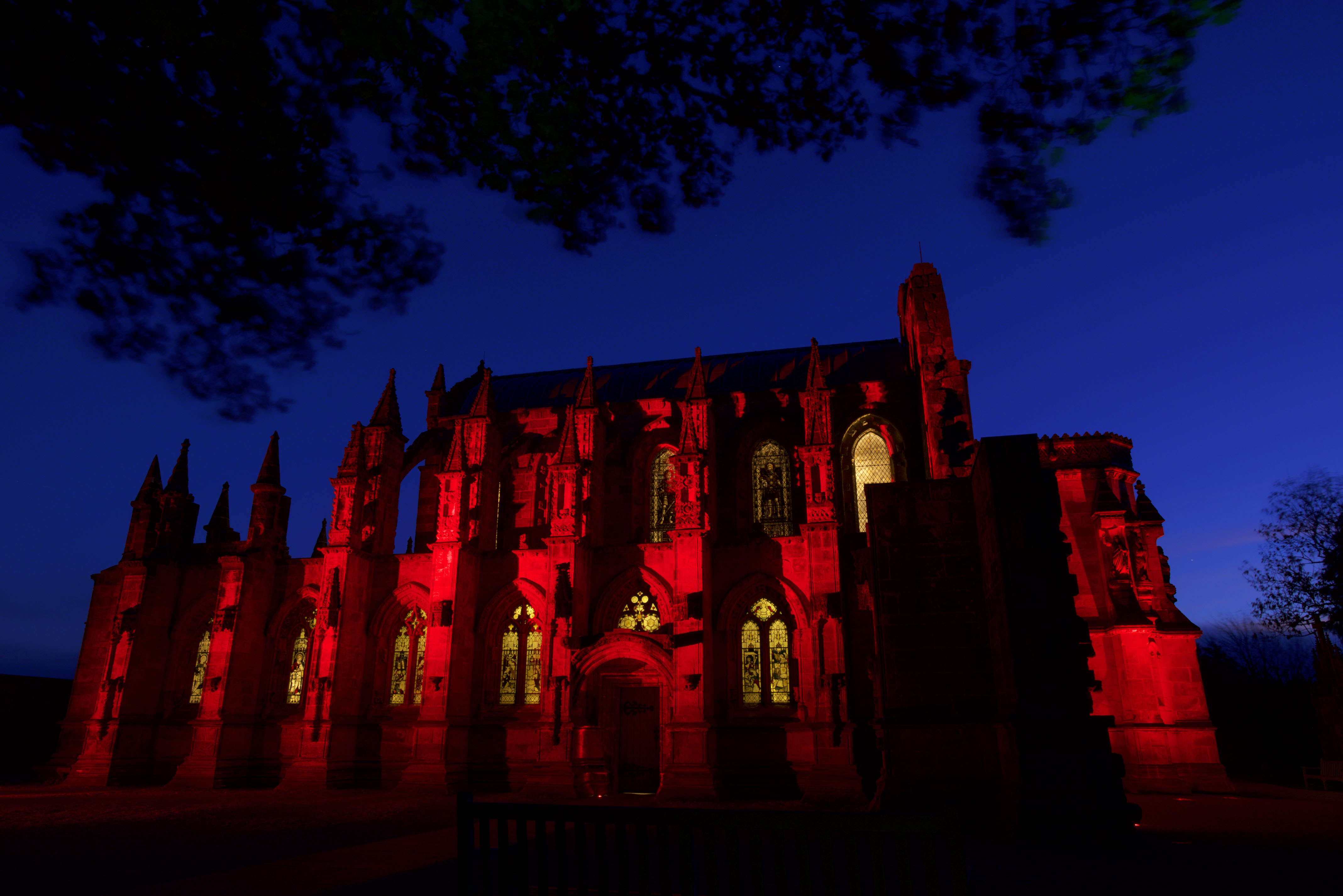 Buildings across Scotland will light up red for PoppyScotland