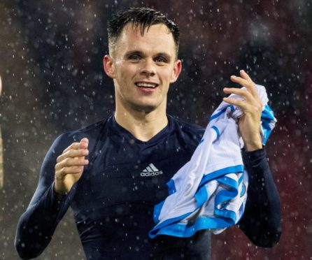 Lawrence Shankland, right, is back in the  Scotland fold.