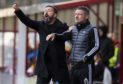 Aberdeen manager Derek McInnes, left, and assistant Tony Docherty.