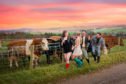 Revellers partying 'til the coos come home'