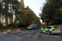 Police were called to the B977 at Raemoir shortly before 9am