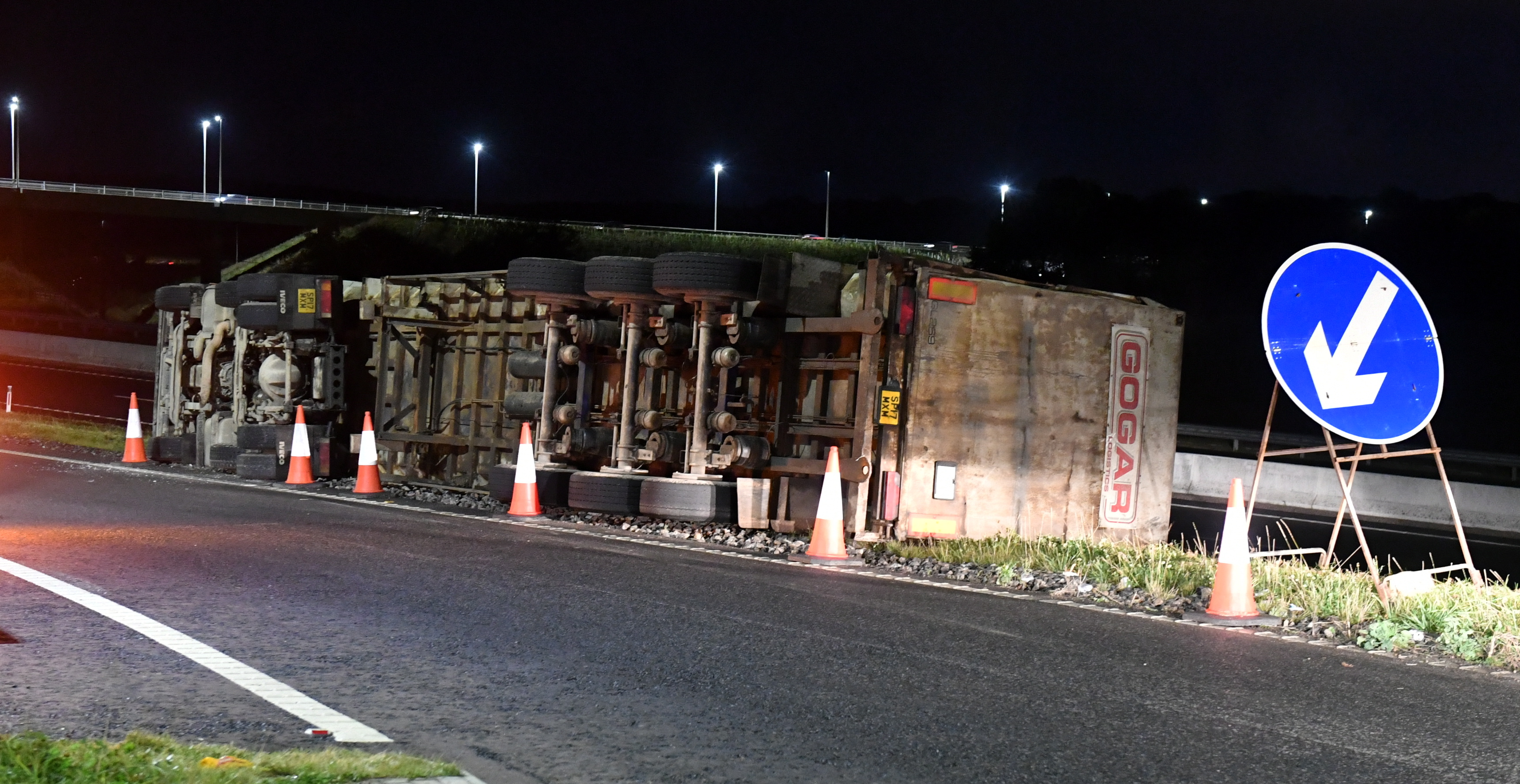 The overturned HGV. Picture by Chris Sumner