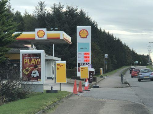 The raid happened at the Shell garage