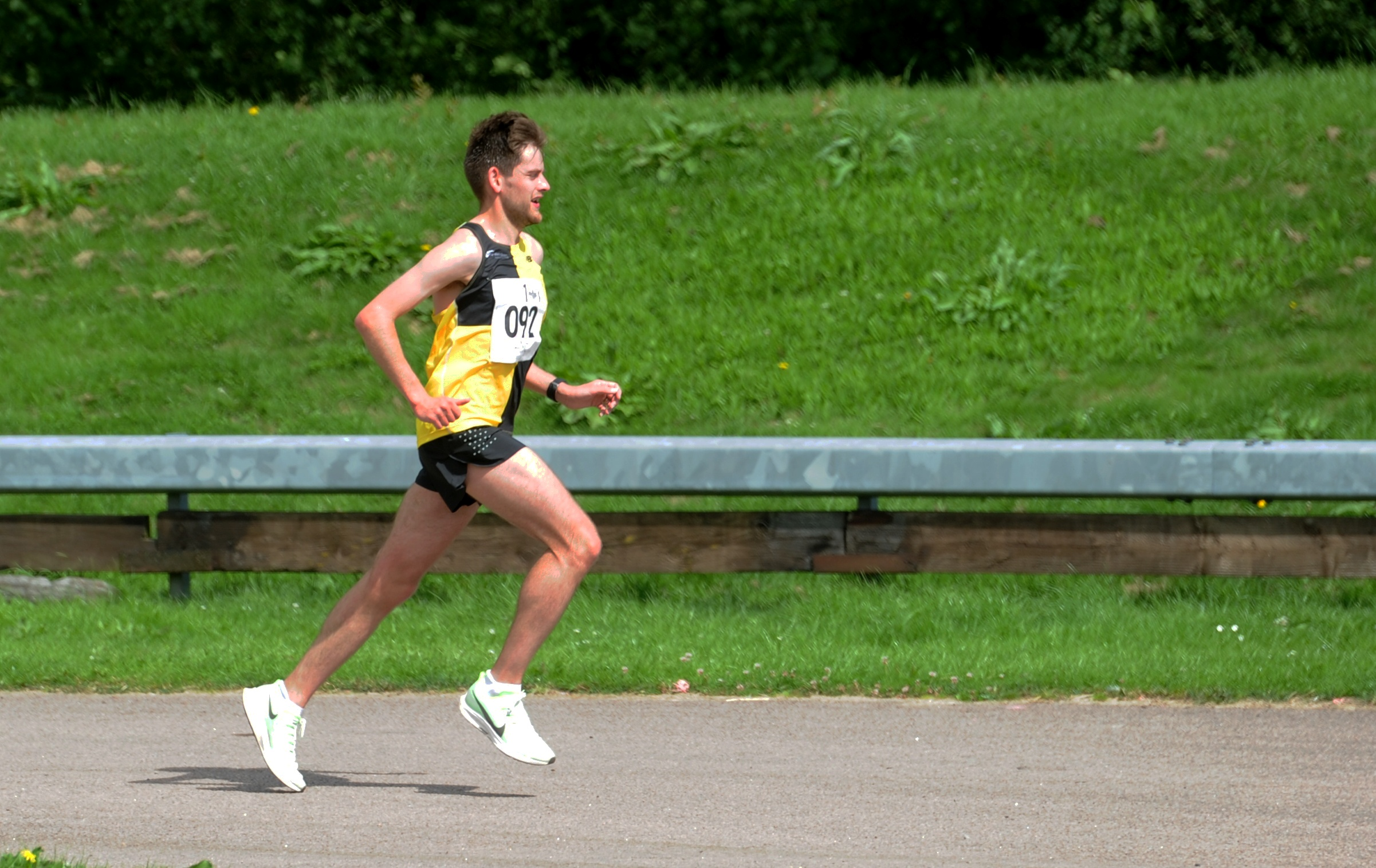 Cameron Strachan set a new PB of 30min 12secs in Stirling last month
