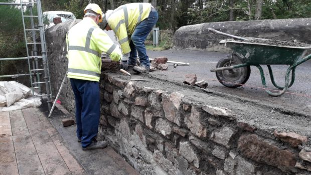 Auchmill bridge sustained serious damage after a suspected road crash last month
