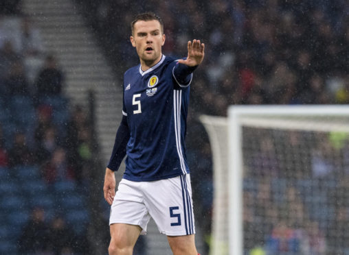 Scotland's Michael Devlin in action during the UEFA European qualifier between Scotland and San Marino on October 13.