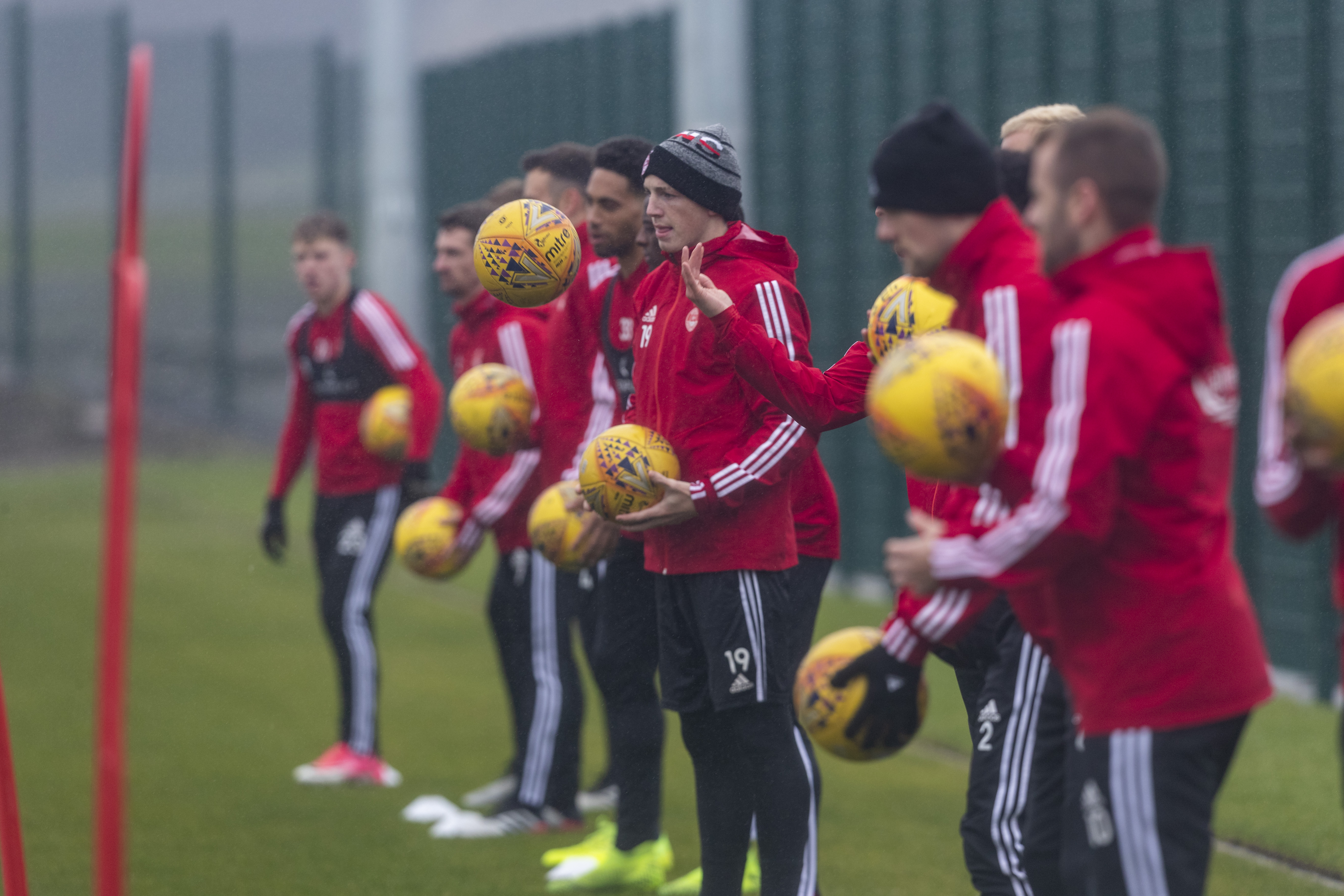 Aberdeen training at Cormack Park earlier in the season.