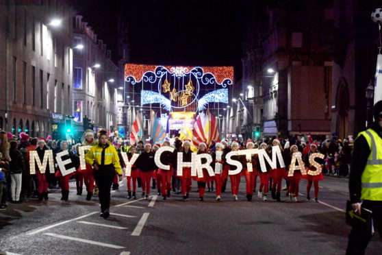 The annual Christmas lights switch on parade will take place tonight