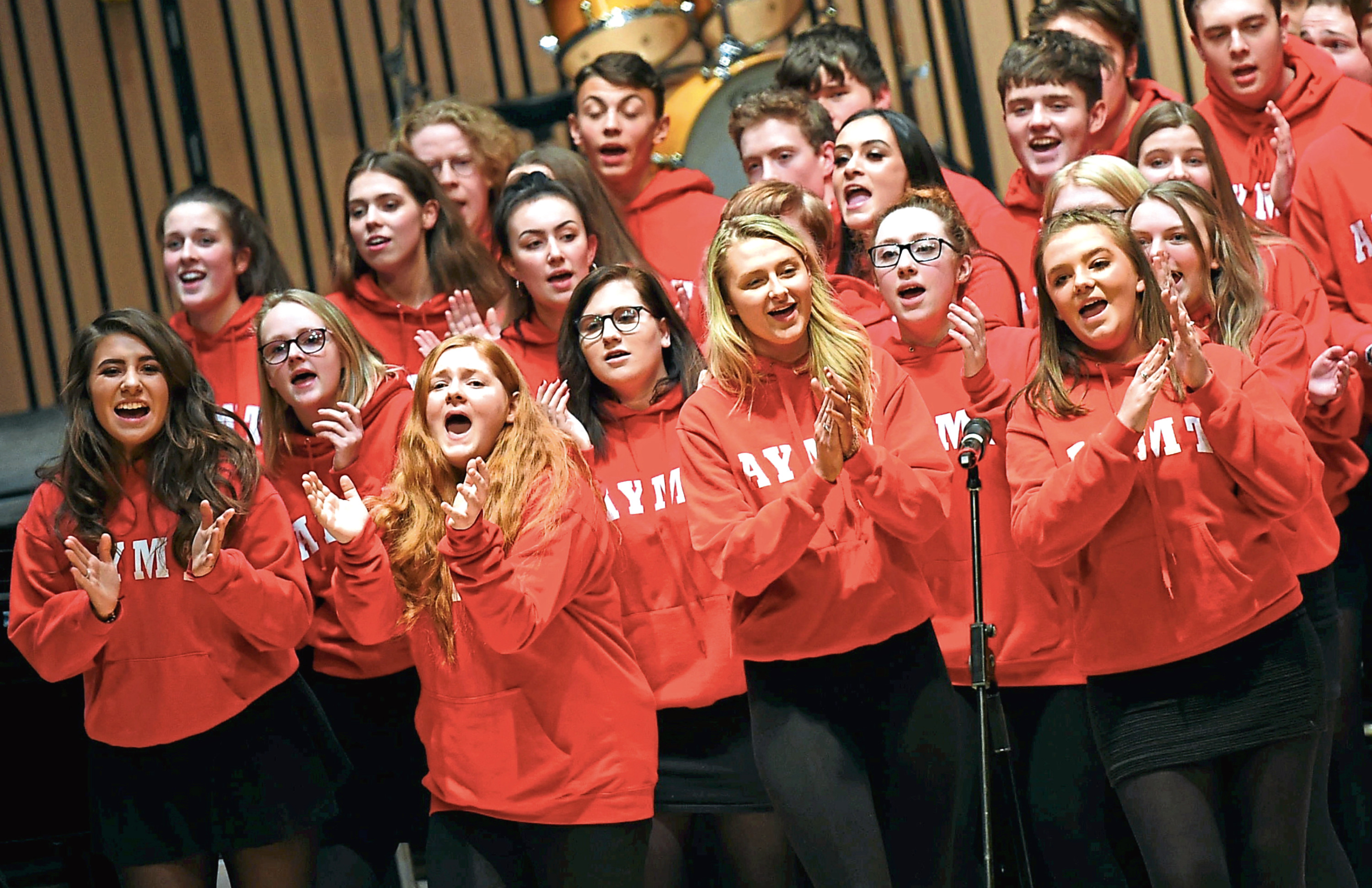 Aberdeen Youth Music Theatre at last year's Evening Express Carol Concert at the Music Hall