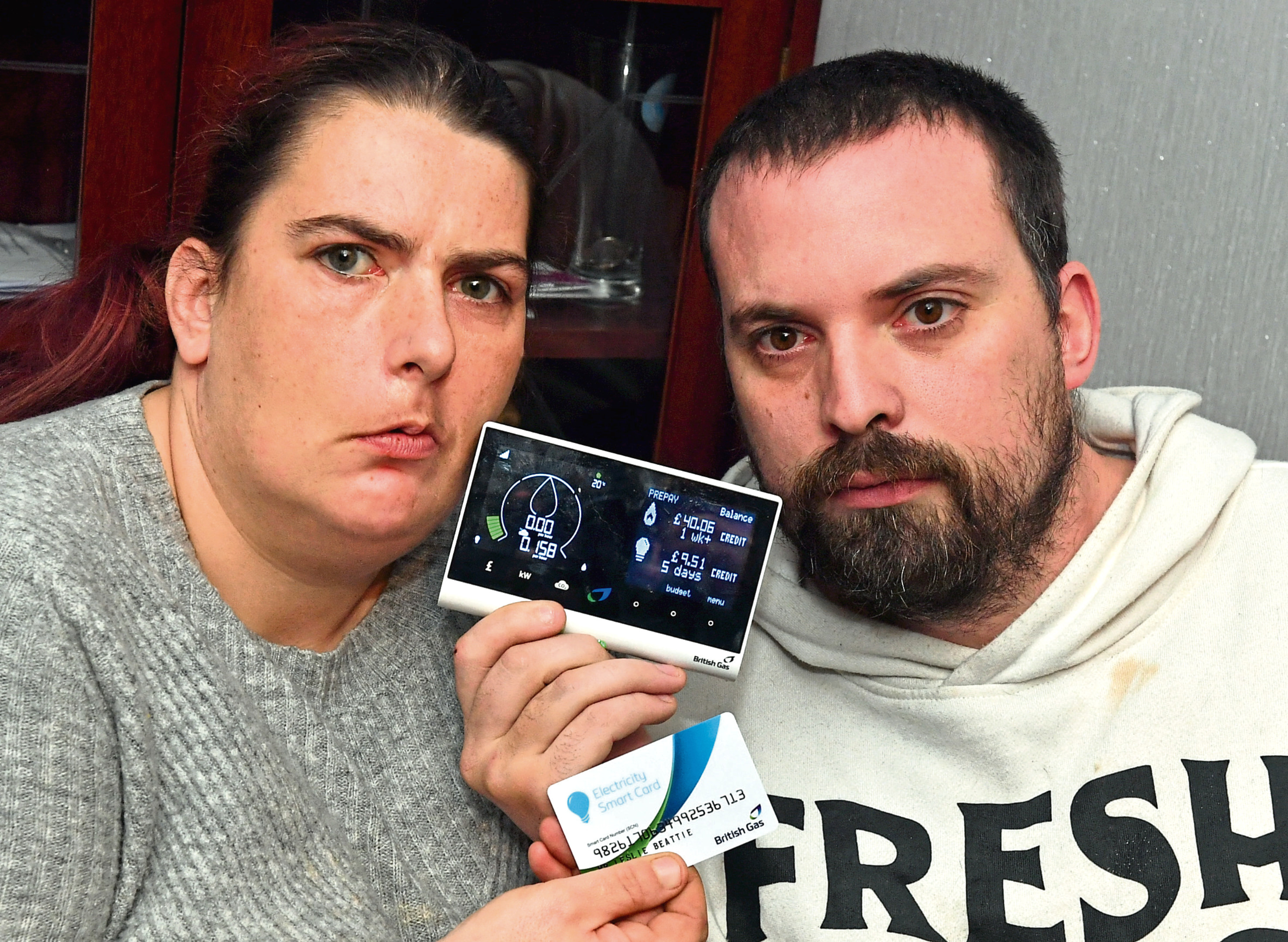 British Gas has apologised to Cheryl and Leslie Beattie, who were left without power due to problems with topping up their new smart meter.