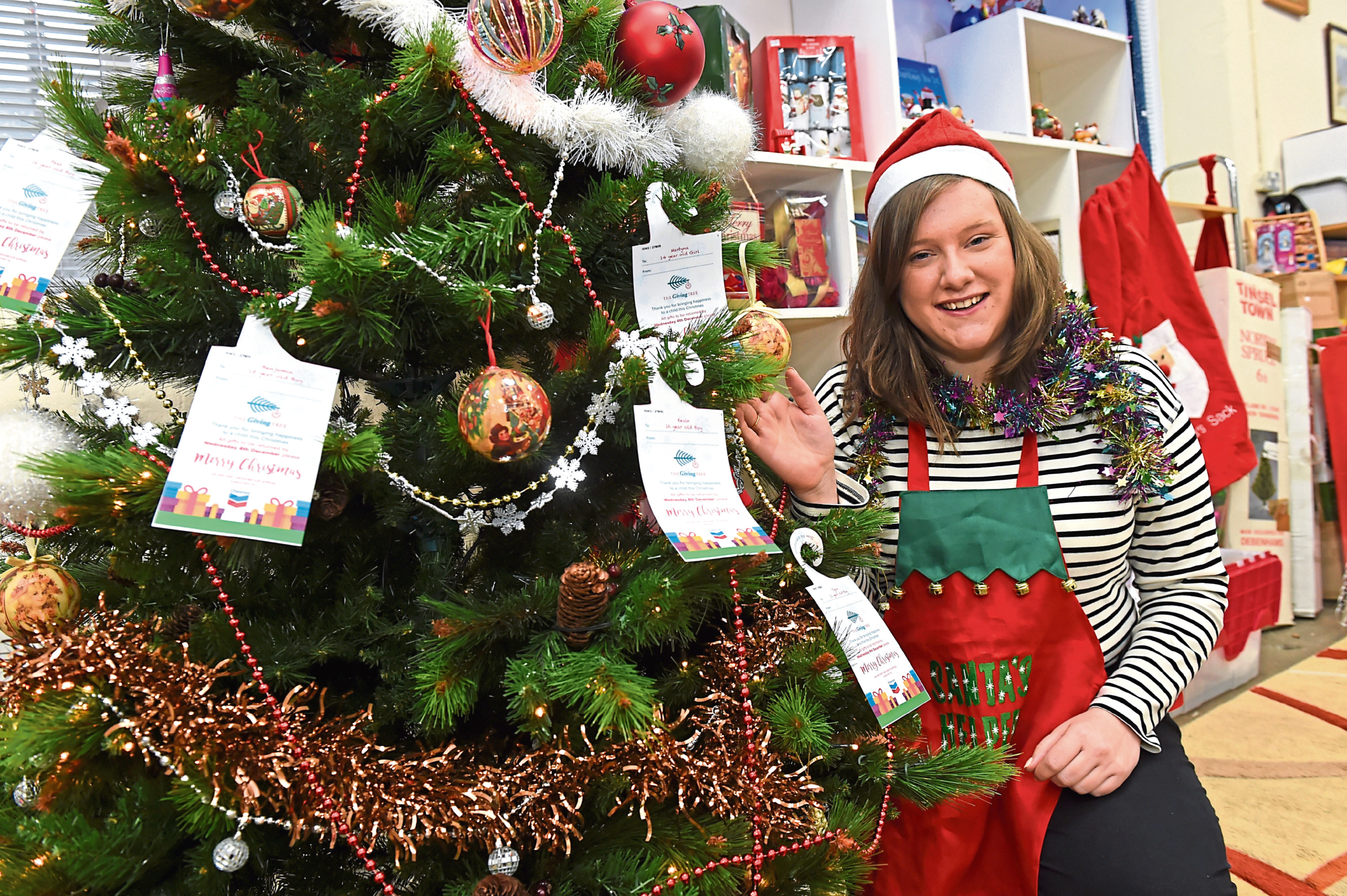 Instant Neighbour are appealing for a business to come forward and let them use an empty office space or the like to sort Christmas presents donated as part of their Giving Tree campaign. Picture by Kenny Elrick