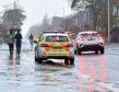 Police on King Street on Saturday
