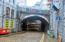 The man fell over the Bridge Street bridge, landing in the smoking area of a nightclub in Windmill Brae