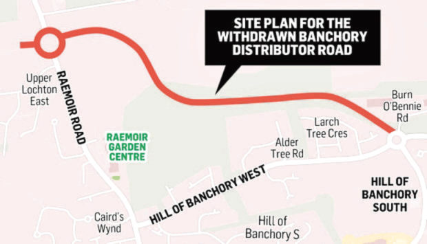 Banchory road location. Graphic.