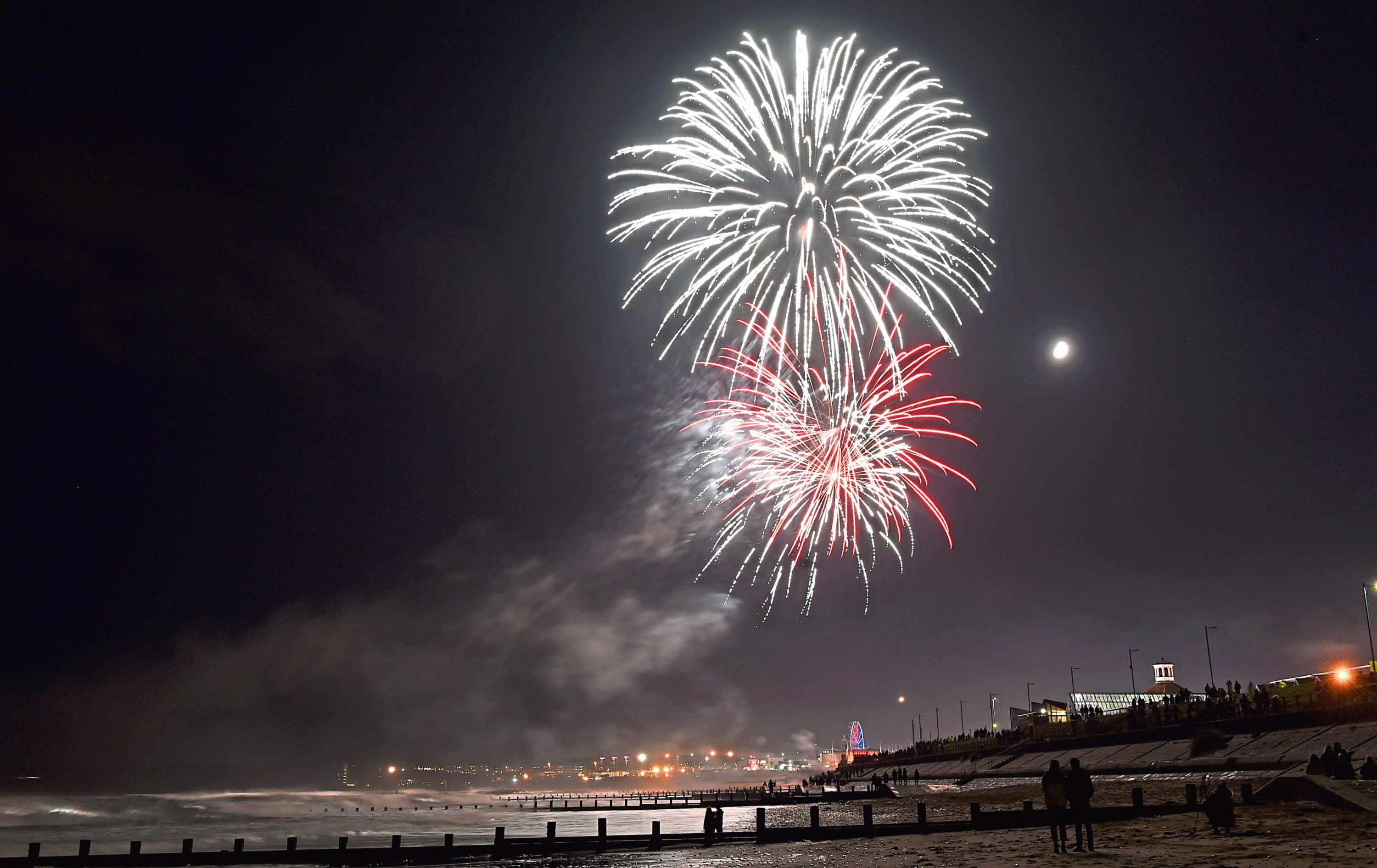 Fireworks at Aberdeen beach