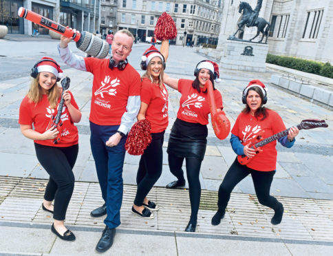 From left, Naomi Forrest, Adrian Watson, Erica Banks, Elena Aspe and Marie Boulton at the launch of the silent disco that will be music to the public's ears