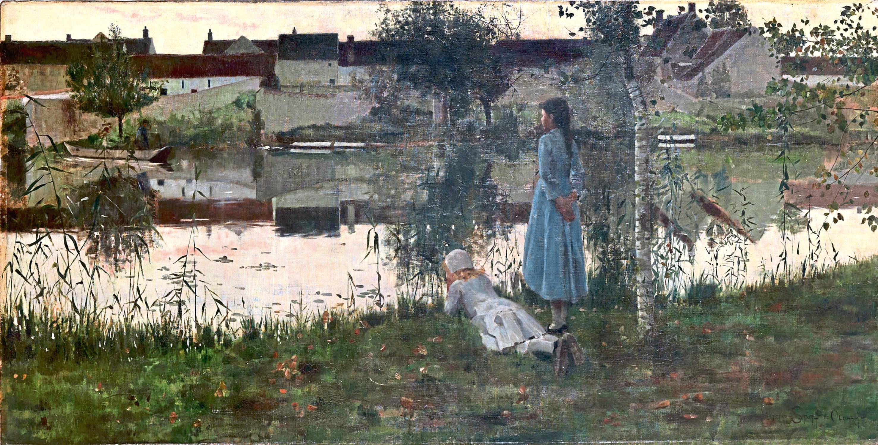 Le Passeur (The Ferryman), 1881, William Stott of Oldham